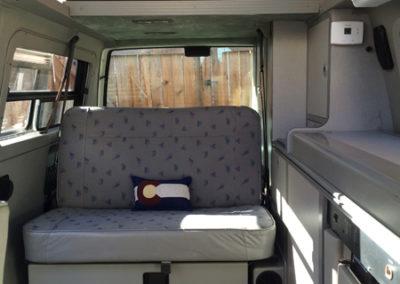 Rental VW Eurovan rear seating