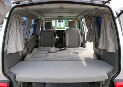 Seats down in a Camper van