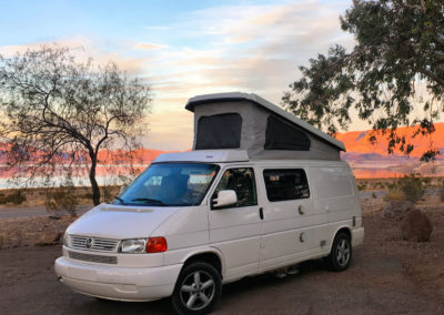 VW Eurovan with top up