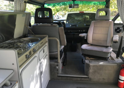 Rental campervan interior