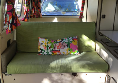 Rear seat in a Rental Campervan