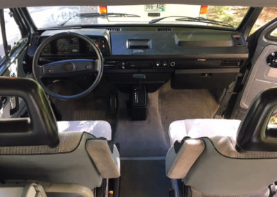Drive seat in a Rental VW Vanagon