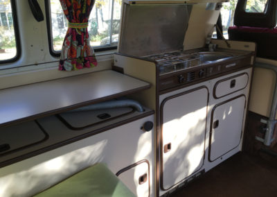 VW Vanagon sink and kitchen