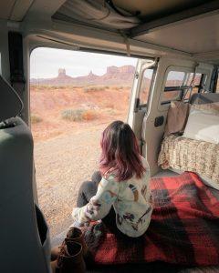 Desert landscape from inside a VW