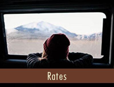 Boy looking out he window of campervan