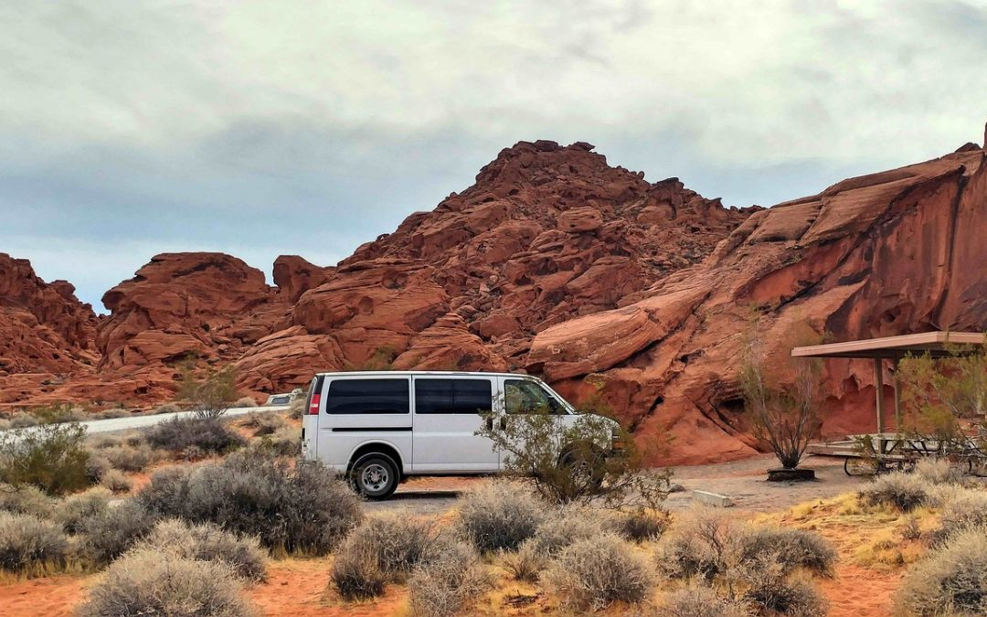 Campervan in the desert
